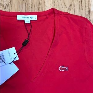 Lacoste Red V Tee.